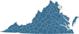 Map of Fairfax County